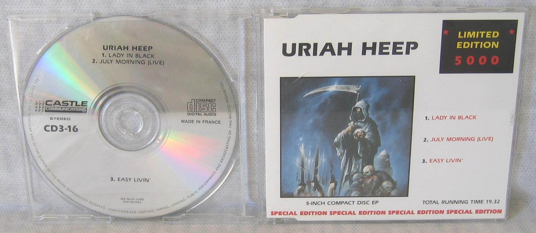 uriah black singles Find a uriah heep - lady in black first pressing or reissue complete your uriah heep collection shop vinyl and cds.